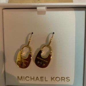 Michael Kors Gold Padlock Earrings